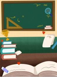 teaching scene english lesson blackboard background , Teaching Scene, Tutoring Background, Class Background Background image