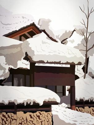 snow winter winter solstice traditional solar terms , 24 Solar Terms, Snow, Winter Solstice Background Imagem de fundo