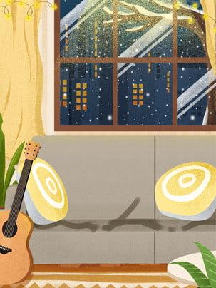 jijia nhà sofa cửa sổ , Nền, Bảng Nền, Nền được Thiết Kế Ảnh nền