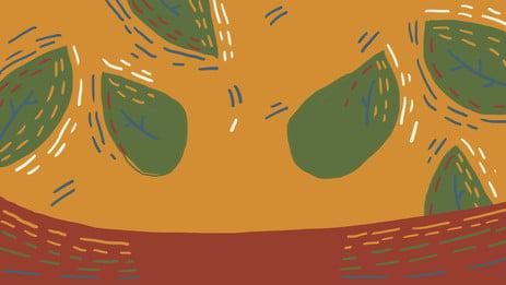 Creative advertising background color background yellow background guest background Drawn Advertising Yellow Imagem Do Plano De Fundo