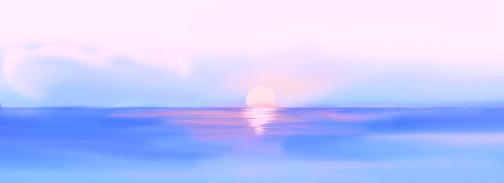サンセット 海 ビーチ 太陽 背景 水 空 日の出 背景画像