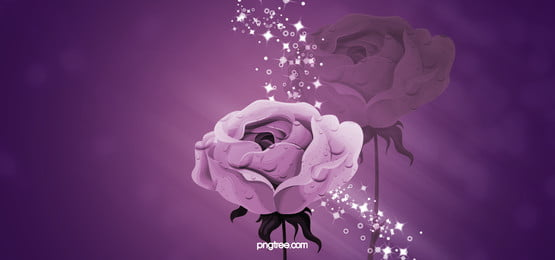 beautiful purple flowers fantasy poster background, Beautiful, Dream, Purple Background image