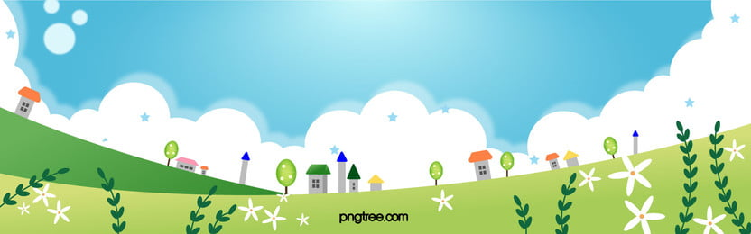 Cute Cartoon Hand-painted Poster Background, Cartoon, Childlike, Building, Background image