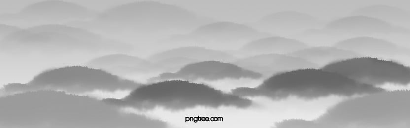 chinese ink painting mountains and rivers simple atmospheric style poster background, Clear, Big, Picture Background image