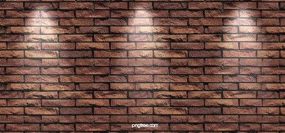 Simple Atmospheric Lighting Brick Taobao Poster Background, Light, Hd, Brick Wall, Background image
