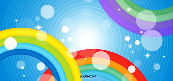 blue cartoon background, Rainbow, Color, Bar Background image