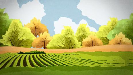 森 ツリー 景観 秋 背景, 落下, 公園, トラック 背景画像