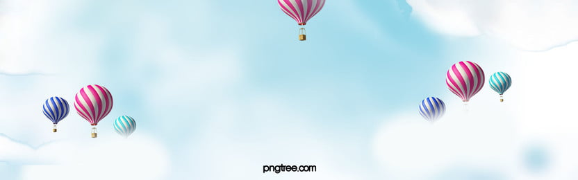 Blue Sky Background, Blue, Sky, Hot Air Balloon, Background image