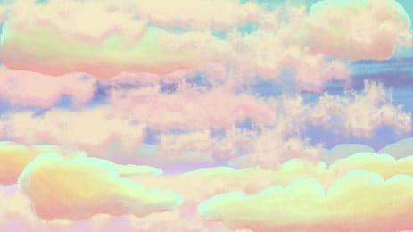 colorful mây nền, Colorful, Những đám Mây, Văn Nghệ Ảnh nền