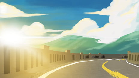 Beautiful And Romantic Happy Life On The Road Road Background, Life, Way, Beautiful, Background image
