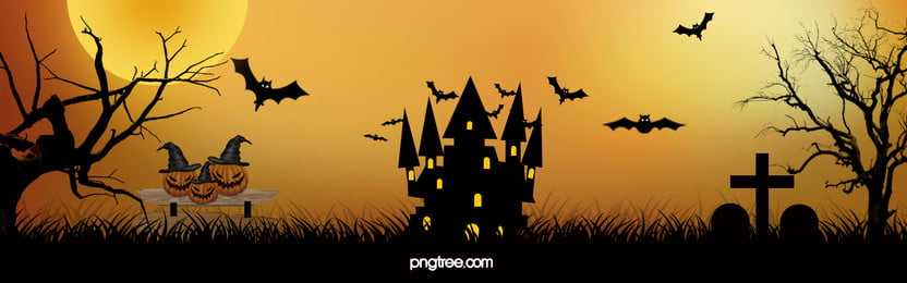halloween poster background, Bat, Orange, House Background image
