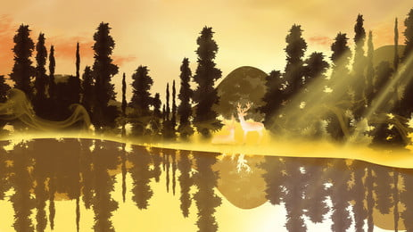 senja latar belakang, Senja, Musim Luruh, Kuning imej latar belakang