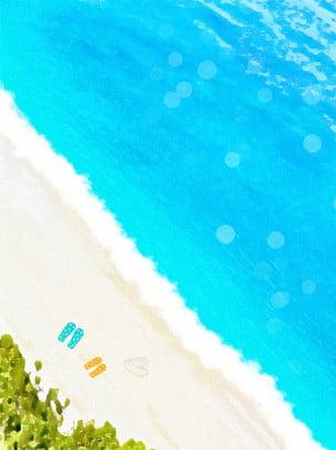 靑空と白雲海バナー 靑空 白雲 海 背景画像