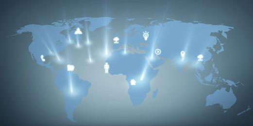 वैश्विक सूचना नेटवर्क का नक्शा, साधारण पृष्ठभूमि, नक्शा, पोस्टर बैनर पृष्ठभूमि छवि