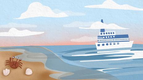 海洋海岸線海灘, 太陽, 水, 景觀 背景圖片