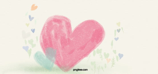 हाथ चित्रित पृष्ठभूमि, प्यार, प्यार, गुलाबी दिल के आकार का पृष्ठभूमि छवि