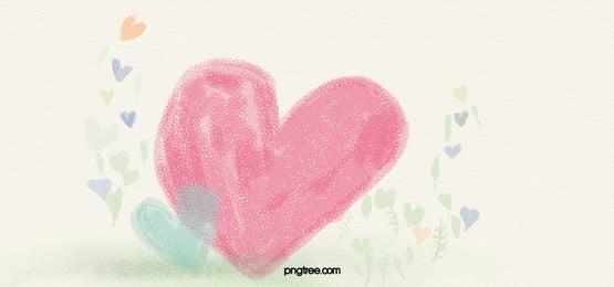 tangan dicat latar belakang, Cinta, Cinta, Hati Merah Jambu imej latar belakang