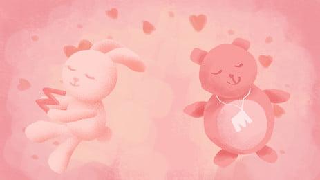 Love Teddy Bear Background, Teddy, Bear, Cartoon, Background image