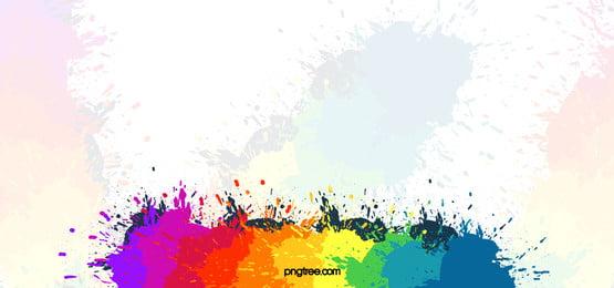 カラフル インク スプラッシュ ブラシ 背景, 色, インク, アクアレン 背景画像
