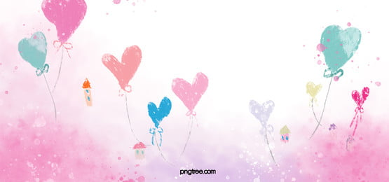 pink love flower valentines day background, Watercolor, Romantic, Dream Background image
