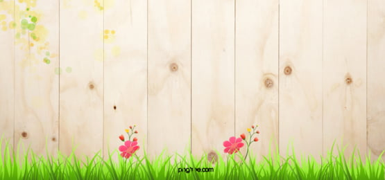 Wooden Flowers Grass Background, Board, Flowers, Spring, Background image