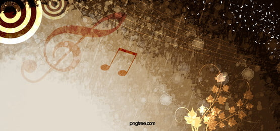 golden floral music art background, Retro, Music, Notes Background image