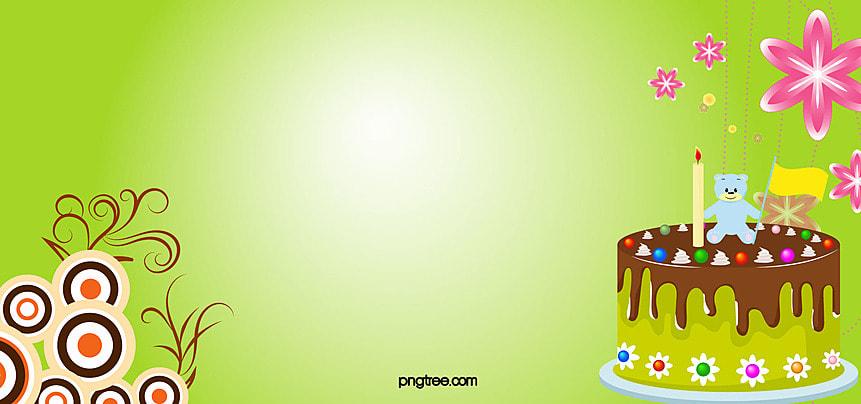 グリーン 背景 誕生日 ケーキ, ハッピーバースデー, フラワーズ, フローラル 背景画像