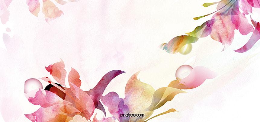 acquarello i fiori sfondo Matrimonio Fiori Colorati Sfondo