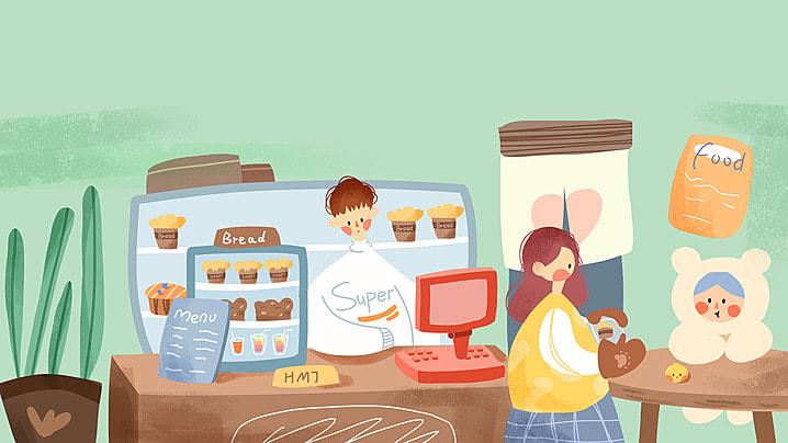 女郎ショッピングカート背景バナー レディ ショッピングカート 背景 背景画像