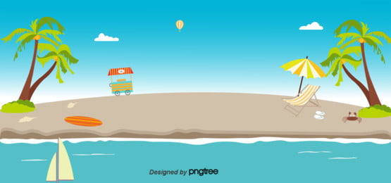 Summer Beach Background, Great, Sandy, Beach, Background image
