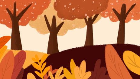 ツリー 秋 木質植物 落下 背景, 景観, 公園, 維管束植物 背景画像