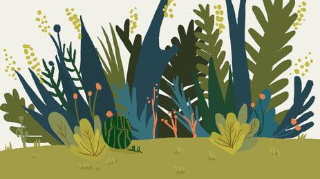 水生動物 植物 葉子 生長 背景, 植物, 生活, 春天 背景圖片