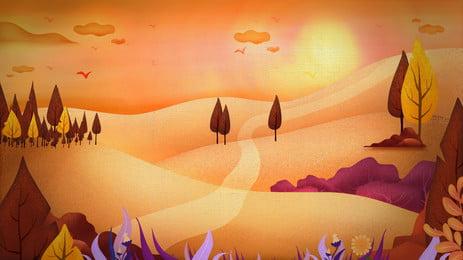 awan dan matahari terbenam gurun malam di bawah, Senja, Awan, Padang Pasir imej latar belakang