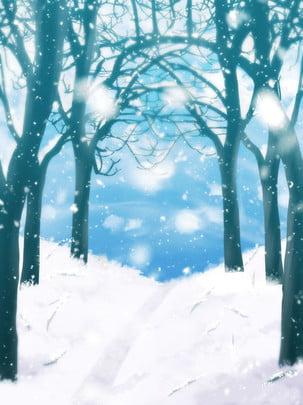 árvore da neve floresta clima , Inverno, árvores, Frio Imagem de fundo