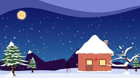 क्रिसमस शैले taobao पृष्ठभूमि चित्रण, क्रिसमस, शैले, बर्फ पृष्ठभूमि छवि