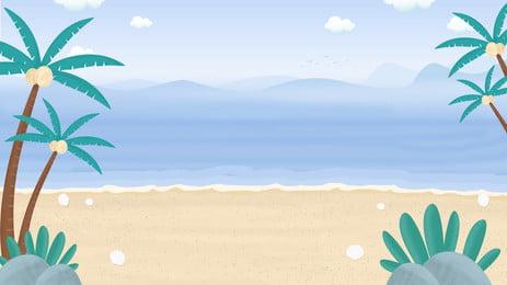 椰子 棕櫚樹 熱帶的 海灘 背景 樹 天堂 海背景圖庫