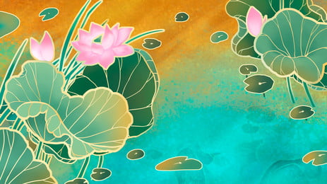 美しいハスの花, ハスの花, 蓮の花, 波 背景画像