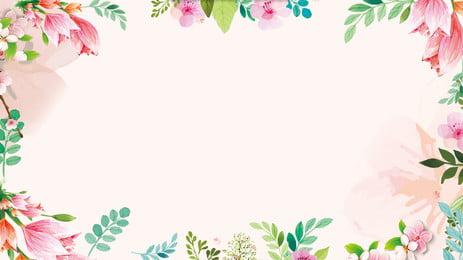 甜美花朵蝴蝶背景圖 藍色背景 粉色花朵 蝴蝶背景圖庫