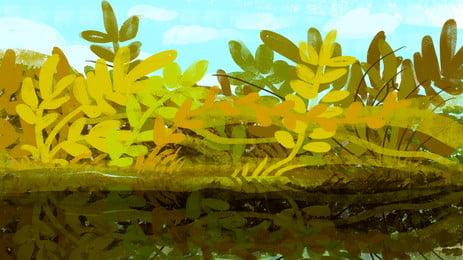 綠色植物背景, 綠色, 植物, 春天 背景圖片