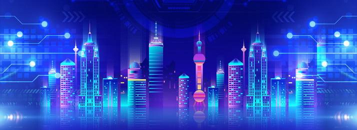 शहर की रात, शहर की रात, शहर नीयन, उच्च वृद्धि इमारतों पृष्ठभूमि छवि