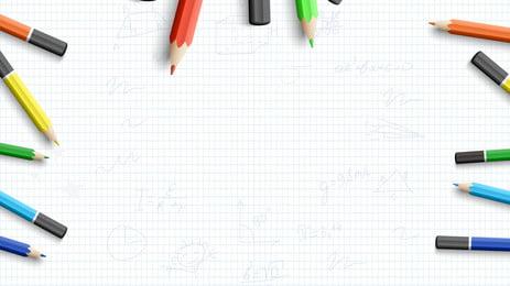 lápis a aplicação giz de cera mola background, Lápis, De Retenção, A Educação Imagem de fundo