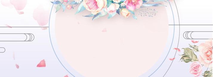 ピンク フラワー フローラル 装飾 背景, 春, 植物, 枝 背景画像