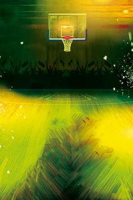 रोशनी के तहत बास्केटबॉल खेल पोस्टर पृष्ठभूमि , लौ, नीले रंग की गेंद, खेल पृष्ठभूमि छवि