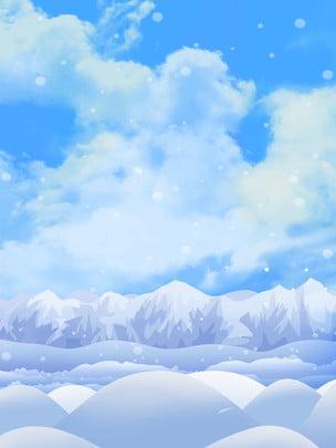 グレイシャーマウンテン雪氷の背景 , 氷山, ピーク, 空 背景画像