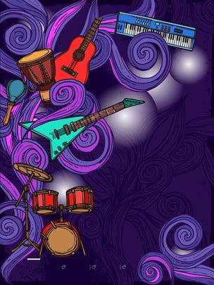 संगीत उपकरण , नीले, संगीत, रेडियो पृष्ठभूमि छवि