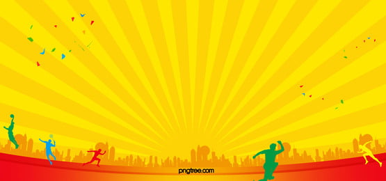 simple yellow sports background, Yellow, Movement, Physical Background image
