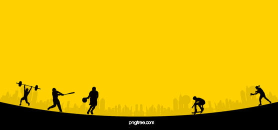 simple yellow sports background, Yellow, Silhouette, Figures Background image