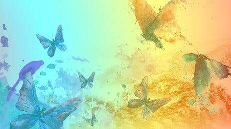 नीले रंग की तितली फोटोग्राफी, जंगली, तितली, हवाई उड़ान में पक्षियों पृष्ठभूमि छवि
