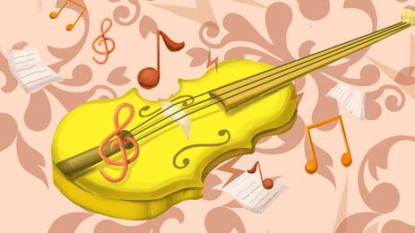 संगीत कक्षाएं वायलिन नोट्स, संगीत वर्ग, वायलिन, नोट पृष्ठभूमि छवि