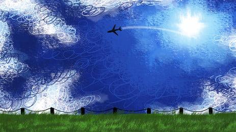 máy bay bay nền mây, Máy Bay., Đám Mây, Bay. Ảnh nền